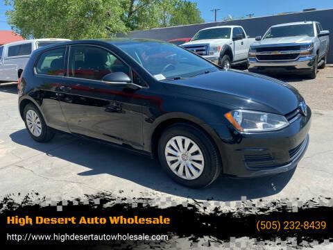 2015 Volkswagen Golf for sale at High Desert Auto Wholesale in Albuquerque NM