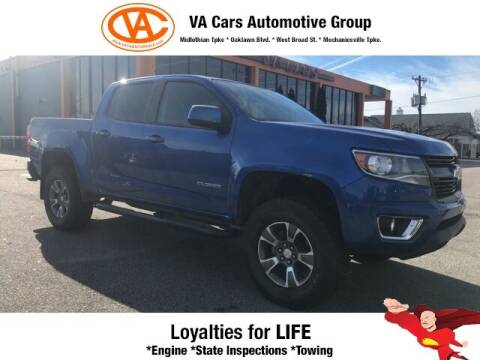 2018 Chevrolet Colorado for sale at VA Cars Inc in Richmond VA