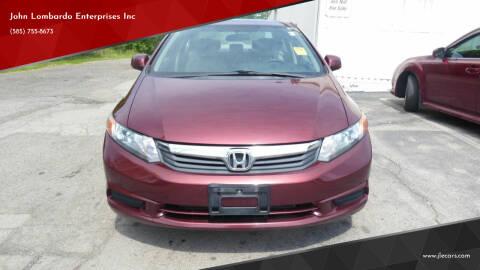 2012 Honda Civic for sale at John Lombardo Enterprises Inc in Rochester NY