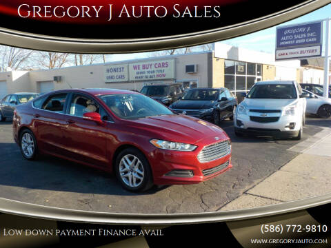 2013 Ford Fusion for sale at Gregory J Auto Sales in Roseville MI