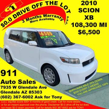 2010 Scion xB for sale at 911 AUTO SALES LLC in Glendale AZ