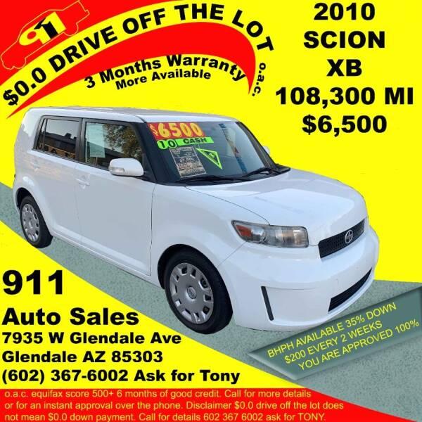 2010 Scion xB for sale at 911 AUTO SALES LLC in Glendale AZ