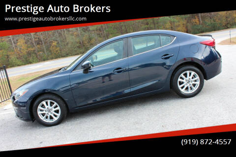 2015 Mazda MAZDA3 for sale at Prestige Auto Brokers in Raleigh NC