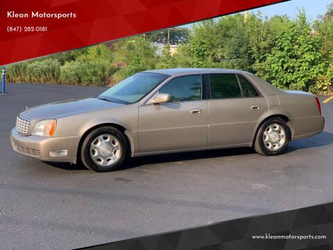 2002 Cadillac DeVille for sale at Klean Motorsports in Skokie IL