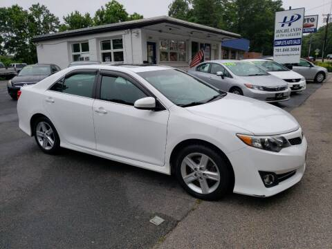 2012 Toyota Camry for sale at Highlands Auto Gallery in Braintree MA