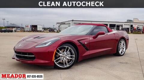 2016 Chevrolet Corvette for sale at Meador Dodge Chrysler Jeep RAM in Fort Worth TX
