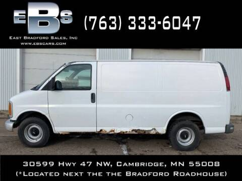2001 Chevrolet Express Cargo for sale at East Bradford Sales, Inc in Cambridge MN