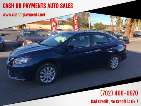 2018 Nissan Sentra for sale at CASH OR PAYMENTS AUTO SALES in Las Vegas NV
