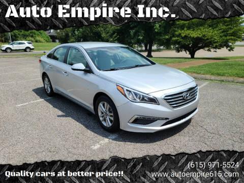 2015 Hyundai Sonata for sale at Auto Empire Inc. in Murfreesboro TN