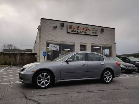 2005 Infiniti G35 for sale at C & S SALES in Belton MO
