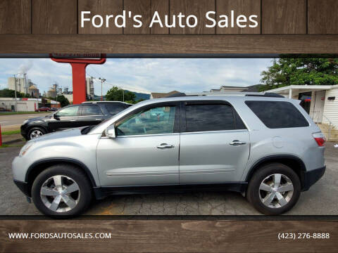 2010 GMC Acadia for sale at Ford's Auto Sales in Kingsport TN