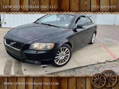 2009 Volvo C70 for sale at DFW AUTO FINANCING LLC in Dallas TX