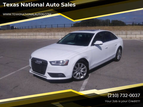 2013 Audi A4 for sale at Texas National Auto Sales in San Antonio TX