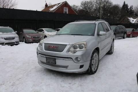 2011 GMC Acadia for sale at F & M AUTO SALES in Detroit MI