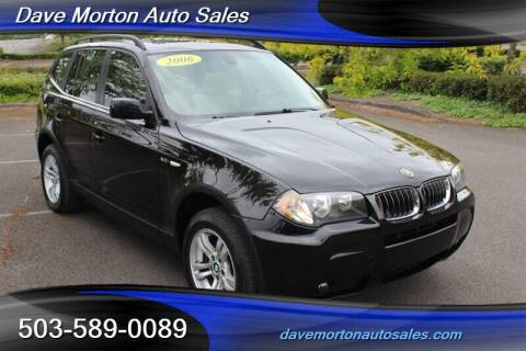 2006 BMW X3 for sale at Dave Morton Auto Sales in Salem OR