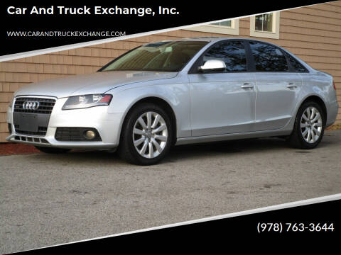 2012 Audi A4 for sale at Car and Truck Exchange, Inc. in Rowley MA