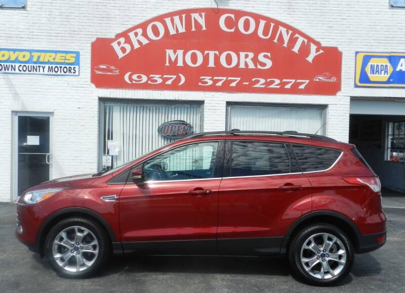 2013 Ford Escape for sale at Brown County Motors in Russellville OH