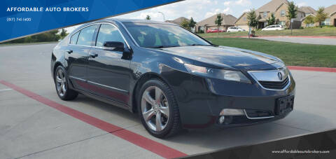 2012 Acura TL for sale at AFFORDABLE AUTO BROKERS in Keller TX
