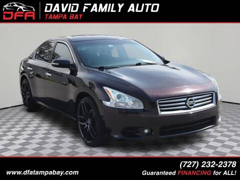 2014 Nissan Maxima for sale at David Family Auto in New Port Richey FL