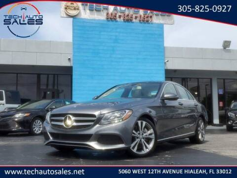 2018 Mercedes-Benz C-Class for sale at Tech Auto Sales in Hialeah FL