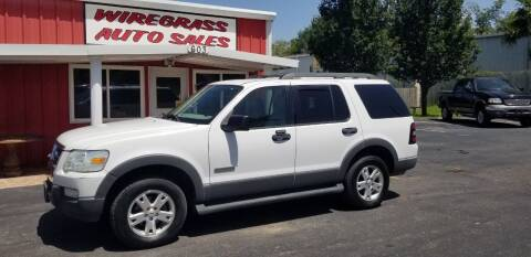 2006 Ford Explorer for sale at WIREGRASS AUTO SALES in Dothan AL