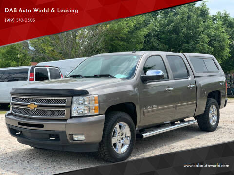 2013 Chevrolet Silverado 1500 for sale at DAB Auto World & Leasing in Wake Forest NC