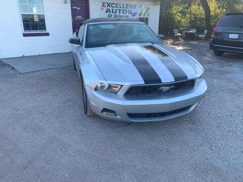 2010 Ford Mustang for sale at Excellent Autos of Orlando in Orlando FL