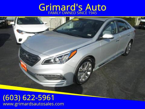 2017 Hyundai Sonata for sale at Grimard's Auto in Hooksett, NH