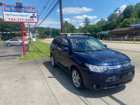 2014 Mitsubishi Outlander for sale at Car Factory Outlet in Lower Burrell PA
