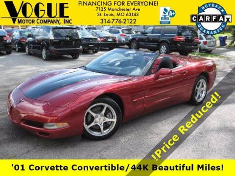 2001 Chevrolet Corvette for sale at Vogue Motor Company Inc in Saint Louis MO