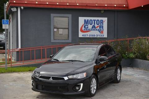 2016 Mitsubishi Lancer for sale at Motor Car Concepts II - Kirkman Location in Orlando FL