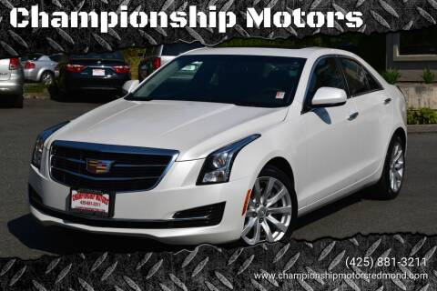 2017 Cadillac ATS for sale at Mudarri Motorsports - Championship Motors in Redmond WA