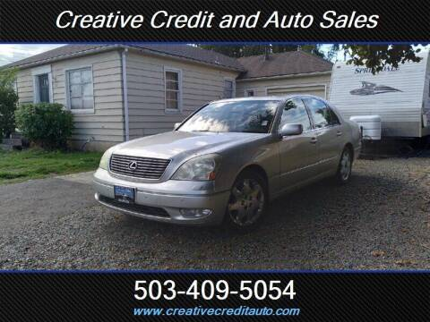 2002 Lexus LS 430 for sale at Creative Credit & Auto Sales in Salem OR