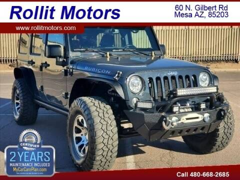 2017 Jeep Wrangler Unlimited for sale at Rollit Motors in Mesa AZ