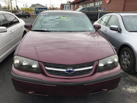 2003 Chevrolet Impala for sale at Chambers Auto Sales LLC in Trenton NJ