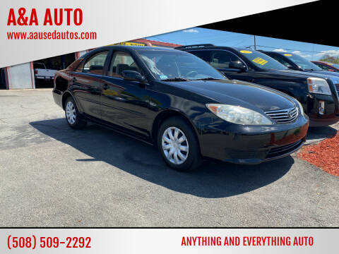 2005 Toyota Camry for sale at A&A AUTO in Fairhaven MA