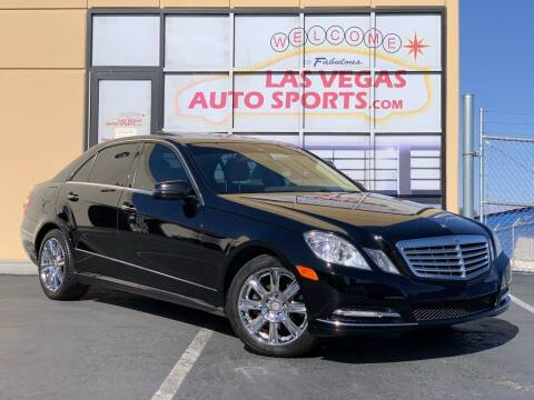 2013 Mercedes-Benz E-Class for sale at Las Vegas Auto Sports in Las Vegas NV