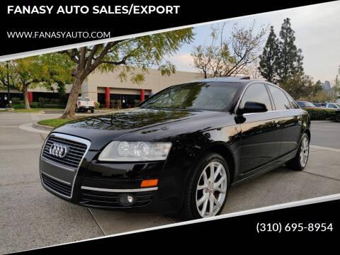 2007 Audi A6 for sale at FANASY AUTO SALES/EXPORT in Yorba Linda CA