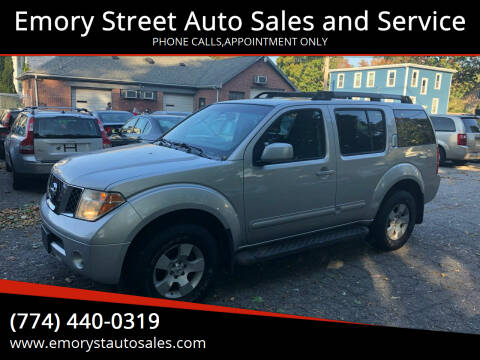 2006 Nissan Pathfinder for sale at Emory Street Auto Sales and Service in Attleboro MA