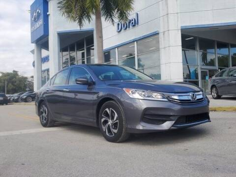 2017 Honda Accord for sale at DORAL HYUNDAI in Doral FL
