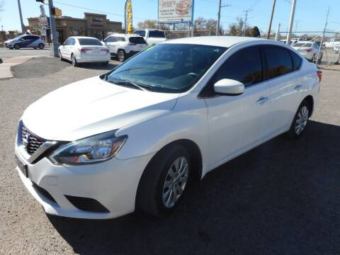 2016 Nissan Sentra for sale at AUGE'S SALES AND SERVICE in Belen NM
