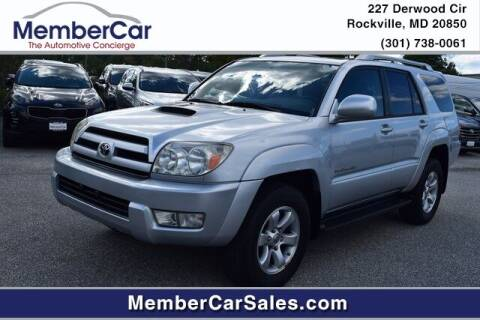 2004 Toyota 4Runner for sale at MemberCar in Rockville MD