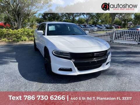2015 Dodge Charger for sale at AUTOSHOW SALES & SERVICE in Plantation FL