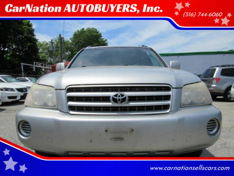 2002 Toyota Highlander for sale at CarNation AUTOBUYERS, Inc. in Rockville Centre NY
