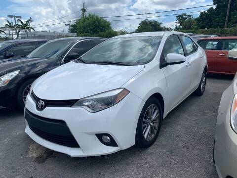 2014 Toyota Corolla for sale at America Auto Wholesale Inc in Miami FL