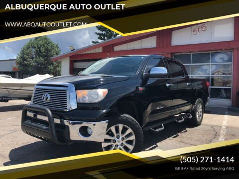 2012 Toyota Tundra for sale at ALBUQUERQUE AUTO OUTLET in Albuquerque NM