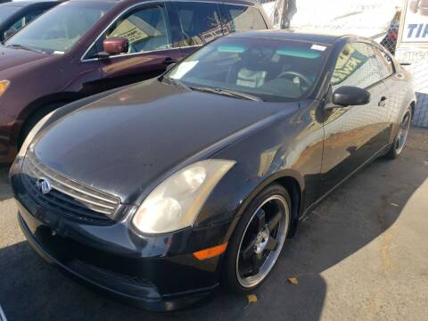 2004 Infiniti G35 for sale at MCHENRY AUTO SALES in Modesto CA