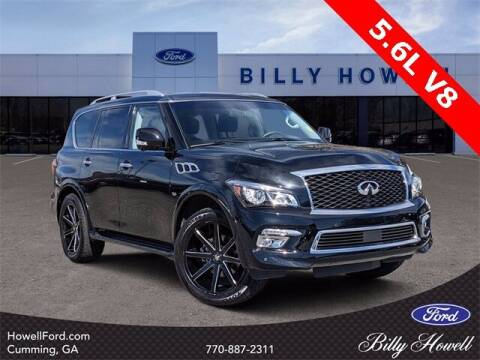2017 Infiniti QX80 for sale at BILLY HOWELL FORD LINCOLN in Cumming GA