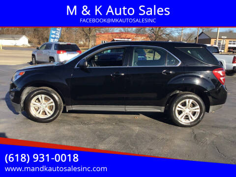 2016 Chevrolet Equinox for sale at M & K Auto Sales in Granite City IL