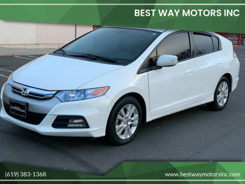 2013 Honda Insight for sale at BEST WAY MOTORS INC in San Diego CA